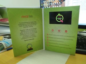5′′ips Video Invitation Card - Video Greeting Card pictures & photos