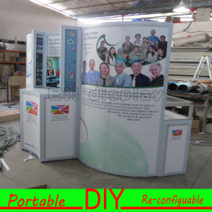 Aluminum Spring PVC Tension Fabric Pop up Display Stand pictures & photos