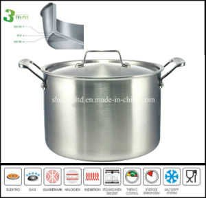 3 Layer Big Casserole Pot Stainless Steel Casserole pictures & photos