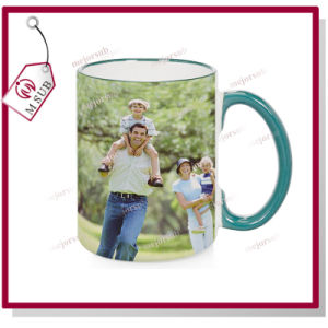 15oz Blank Sublimation Mugs with Colorful Rim and Handle pictures & photos