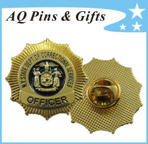 Metal Police Badge for Officer Badge for New York State (badge-121) pictures & photos