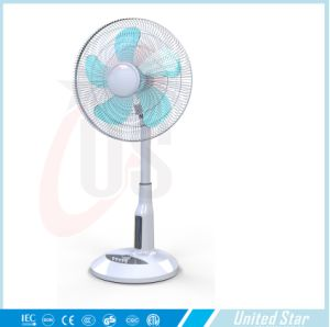 "16 "" DC 12V Solar Stand Fan/Lithium Battery Rechargeable Fan pictures & photos"