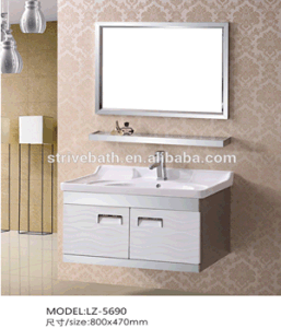 Cheap Commercial Stainless Steel Bathroom Vanity (LZ-5690)
