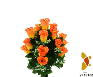 Artificial/Plastic/Silk Flower Rosebud Bush (2718100) pictures & photos