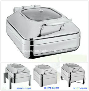 Half Size Induction Chafing Dish with 4.0L Food Pan (35127T) pictures & photos