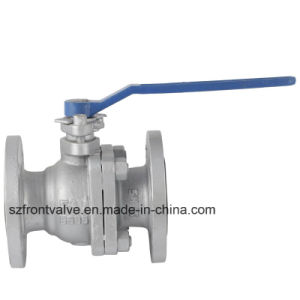 Flanged End 2PC Floating Ball Valve pictures & photos