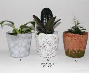 Tabletop Succulents Cement Planter Concrete Flower Pot Home And Garden Decoration