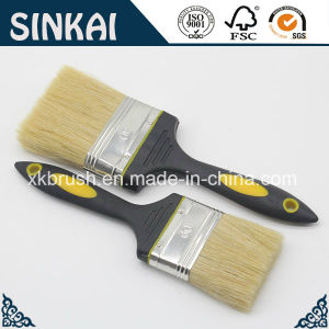 Rubber Bristle Paint Brush with White Bristle pictures & photos