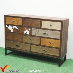 Shabby Chic Large Size Vintage Wood Filing Drawer Cabinet