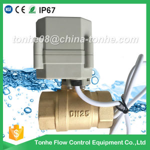 Dn25 2 Way 1 Inch Brass Cr2 01 DC12/24V Electric Ball Motorized Valve Controller pictures & photos