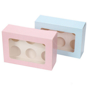 2015 Wholesale Pink Custom Cupcake Boxes for Bakery Cake Box