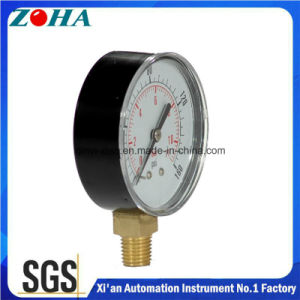 Small Pressure Gauge with Black Case and Brass Connector pictures & photos