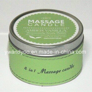 100% Soy Massage Candle in Tin