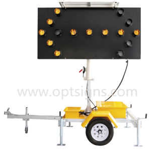 1 Solar Powered Traffic Road Arrow Sign Road Safety Arrow Board Trailer pictures & photos