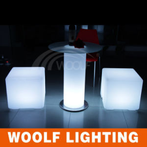 Best Sale Rechargeable Colorful LED Light Cube Chairs
