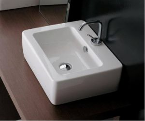 China Table Top Wash Sink with 45mm Faucet Mouth (S1077)