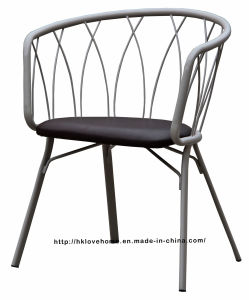 Modern Metal Dining Restaurant Wire Upholstered Chair pictures & photos