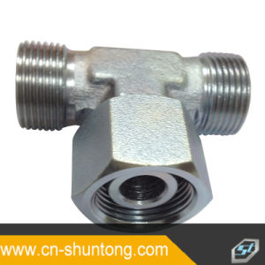Hydraulic Fitting Metric Male to Metric Female Tee Adapter