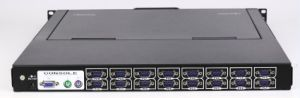 4ports 8ports 16ports 1u Rack Mount 15′′ LCD Kvm Switch pictures & photos
