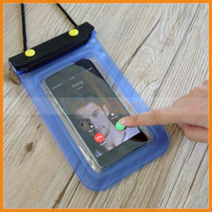 3 Zipper Lock Clear Window Taking Photo Video Waterproof Phone Case pictures & photos