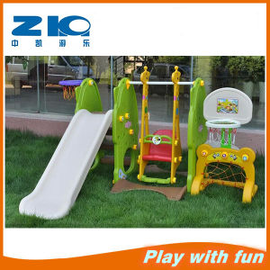 New Stype Indoor and Outdoor Playground Plastic Slide with Swing for Paly Set pictures & photos