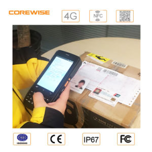 Industrial Outdoor RFID Reader Cordless Laser 1d &2D Barcode Scanner with GPS, Bt4.0