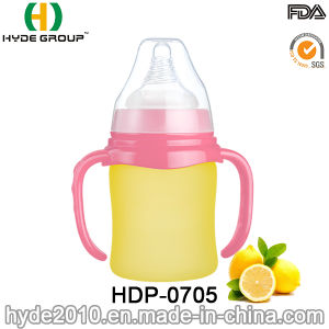 Glass 250ml Portable BPA Free Baby Feeding Bottle (HDP-0705) pictures & photos
