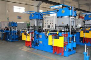 Vacuum Compression Moulding Machine for Rubber Keypad pictures & photos