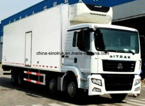 Top Quality Sinotruk Fish Meat Transport Box Refrigerator Truck With American Carrier Generator