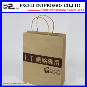 Logo Printed Natural Kraft Shopping Bag (EP-FP55515) pictures & photos