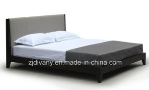 Divany Modern Bedroom Furniture Wooden Leather Double Bed (A-B37) pictures & photos