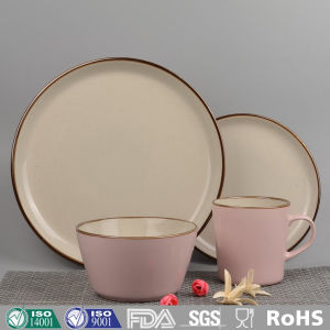 Pink Color Glazed Ceramic Dinnerware (Set) & China Pink Color Glazed Ceramic Dinnerware (Set) - China Ceramic ...