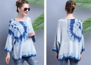 Factory-Direct Supply Europe Station 2015 Autumn New Abstract Graphics Ladies Knitwear Sweater pictures & photos
