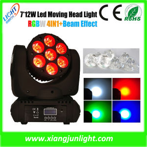 7PCS RGBW 4in1 Mini LED Moving Head Wash Light pictures & photos
