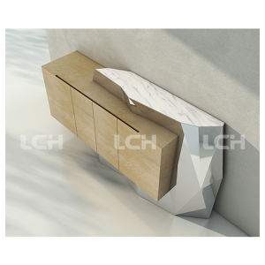 Special Modern Design Wood with Stone TV Stand