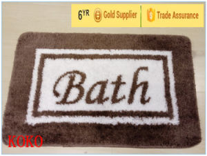 Polyester Bath Mat with Anti Slip Backing