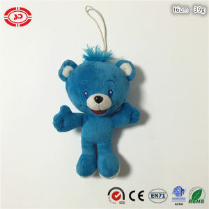 Blue Fancy Soft Stuffed Bear Brand Embroidered Plush Toy
