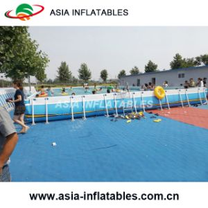 Metal Frame Rectangle Pool, Movable Rectangle Frame Pool pictures & photos