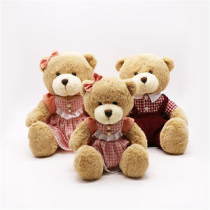 Fashion Customized Soft Christmas Stuffed Sitting Plush Brown Teddy Bear Toys