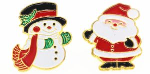 Father Christmas Images Free.Free Design Christmas Zinc Alloy Badge Father Christmas Lapel Pin