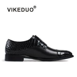 a3076716b09f China Vikeduo 2018 Fashion Classic Mens Style Black Double Monk ...
