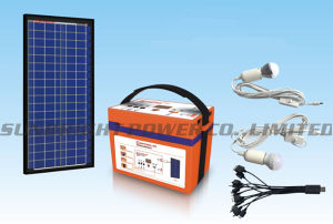 High Quality Rechargeable Deep Cycle Solar Power Generator System 20W 12V12ah pictures & photos