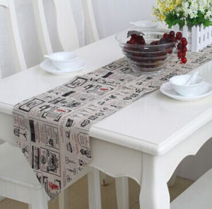 Faux Linen Table Runner Decorative Table Flag (STR-02) pictures & photos