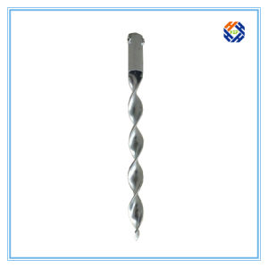 Q235 Galvanized Pole Ground Screw Anchor for Ground Mounting System pictures & photos