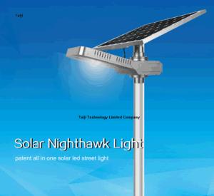 40W Solar Nighthawk Light Adjustable Solar LED Street Light All In One Solar  Street Light
