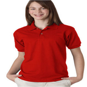 Polo Shirt Cotton for Girl′s pictures & photos