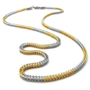 316 Stainless Steel Coil Gold Necklace (Yc-10006)