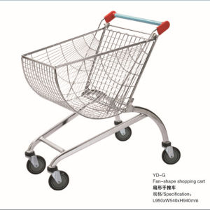 New Design Chrome Supermarket Shopping Trolley pictures & photos