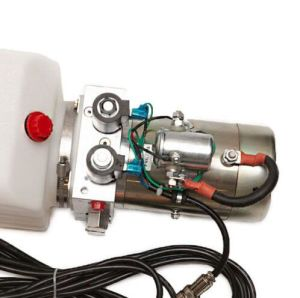 Hydraulic Pump Power Unit Single Acting 12V DC Dump Trailer 6 Quart with Remote pictures & photos