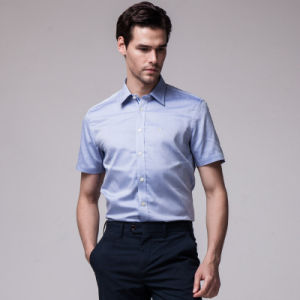 Italian Collar Royal Blue Dress Shirts for Men pictures & photos